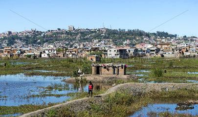 Arme Vorstadtsiedlungen von Antananarivo  Madagaskar
