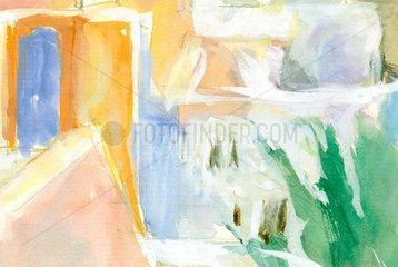 Malerisches Haus Serie Marokko