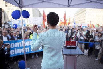 Sahra Wagenknecht  Friedenskundgebung Die Linke