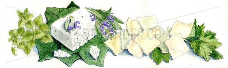 Ravioli Mozzarella Kraeuter