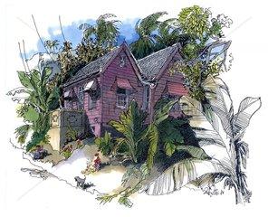 Karibisches Haus