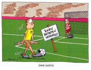Fussball - Rasen betreten verboten