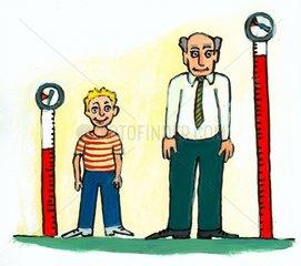 Blutdruck bei Alt und Jung