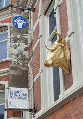 Oss  Niederlande  Ochsenkopf der Installation -Bullock- von Ottmar Hoerl
