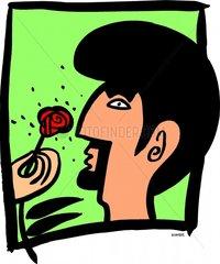 Versuchung rote Rose