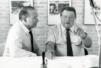 Franz Josef Strauss  Friedrich Zimmermann  CSU  1987