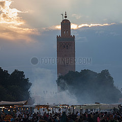 Minaret of Koutoubia Mosque - Marrakesh
