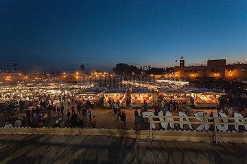 Djemaa el Fna Market - Marrakesh