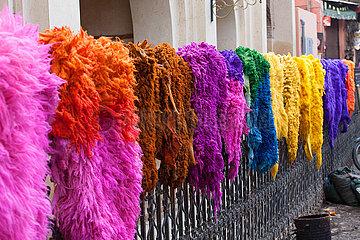 Sheep furs drying in Medina - Marrakesh