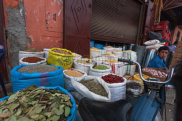 Spice Shop in medina - Marrakesh