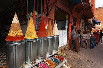 Spice Shop in Souk - Marrakesh