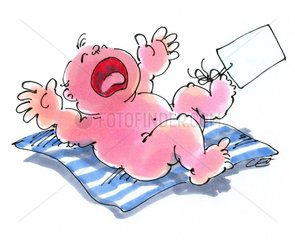 Baby auf Decke