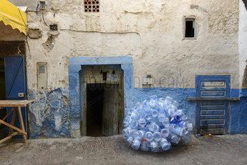 Plastikrecycling in Essaouira  Marokko