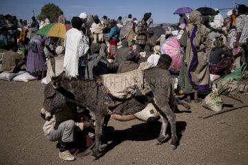 Market in Lalibela  Ethiopia