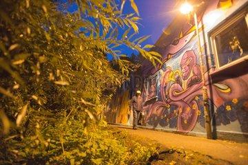 Graffiti in Licht und Dunkel