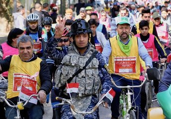 IRAQ-BAGHDAD-CYCLING EVENT-SECURITY IMPROVEMENT