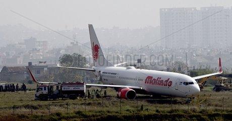 NEPAL-KATHMANDU-MALINDO AIRLINES-RUNWAY ACCIDENT