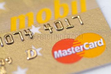 Hamburg  Deutschland  goldene MasterCard