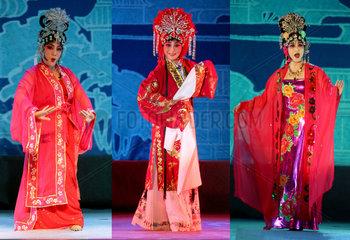 China  Peking Oper in der Shanxi Provinz