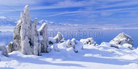 Mono Lake  Tuff im Winter