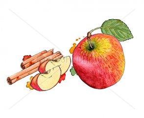 Apfel Zimt - Serie Obst