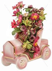 Auto als Blumenvase  Kitsch  Italien  1987