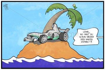 Lewis Hamilton im Steuerparadies
