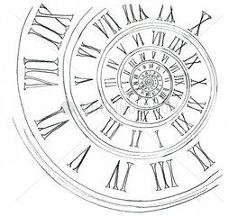 Uhrenstrudel - Serie Zeit