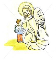 Einschulung Engel Schule Schulbeginn