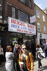 Brick Lane Bakery Warteschlange