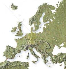 Europakarte Relief