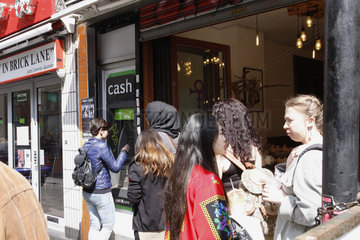 cash at the Brick Lane in London