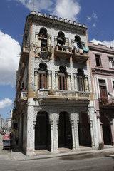 Arabische Fassade im Havanna Vieja