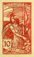 Union Postale Universelle  Weltpostverein  Jubilaeum 1875 - 1900