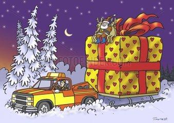 Weihnachtsmann wird abgeschleppt