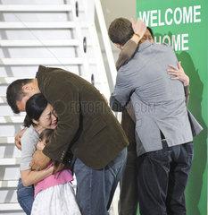 Befreite Journalistinnen bei ihrer Ankunft in USA