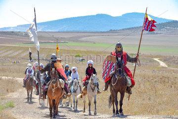 ISRAEL-GALILEE-BATTLE OF THE HORNS OF HATTIN-RE-ENACTMENT
