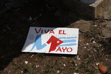 viva El 1 Mayo Plakat im Havanna