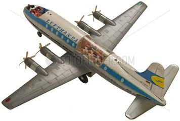 Lufthansa Propellermaschine Vickers Viscount 814  1959