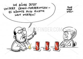 Merkel laed zu GroKo-Gespraechen: SPD nennt Bedingungen
