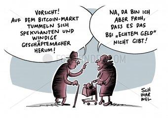 Hype von Kryptowaehrung : Finanzaufsicht warnt vor Totalverlust bei Bitcoin