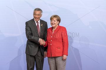 Lee Hsien Loong + Merkel