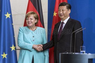 Merkel + Xi Jinping