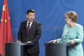 Xi Jinping + Merkel