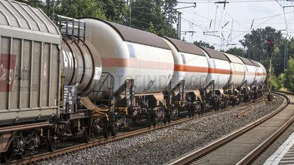 Gueterzug der Deutschen Bahn