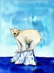 Eisbaer auf Eisberg am Suedpol - Serie