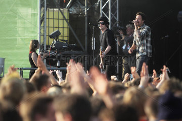 Kiel  Deutschland  Band Simple Plan spielt auf der NDR-Buehne
