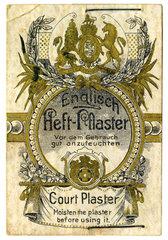 eines der ersten Heftpflaster  1893