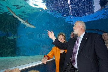 Peter Harry Carstensen im Meereszentrum auf Fehmarn