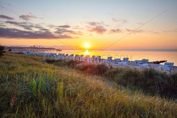 Sonnenaufgang am Strand von Haffkrug.